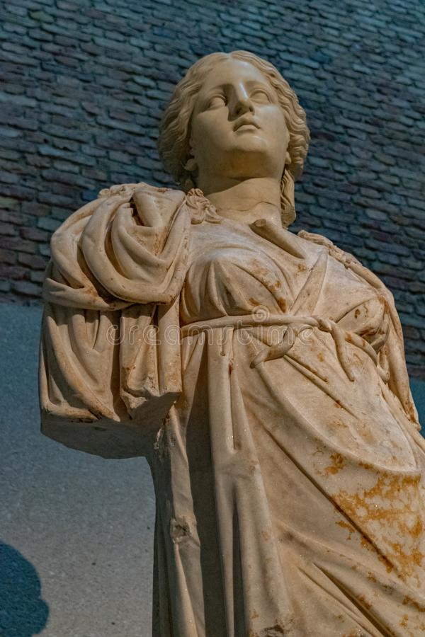 Greek godess at Neues Museum royalty free stock images