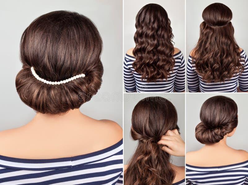 Greek Hairstyle Tutorial Stock Photo Image Of Fashion
