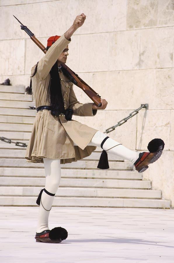Greek honor guard royalty free stock image