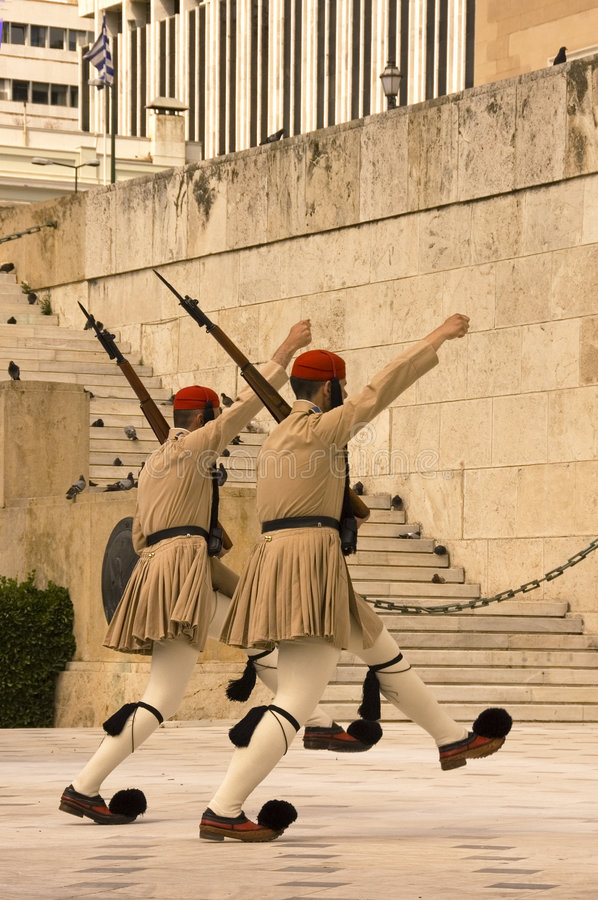 Download Greek honor guard stock image. Image of attention, guards - 2534983