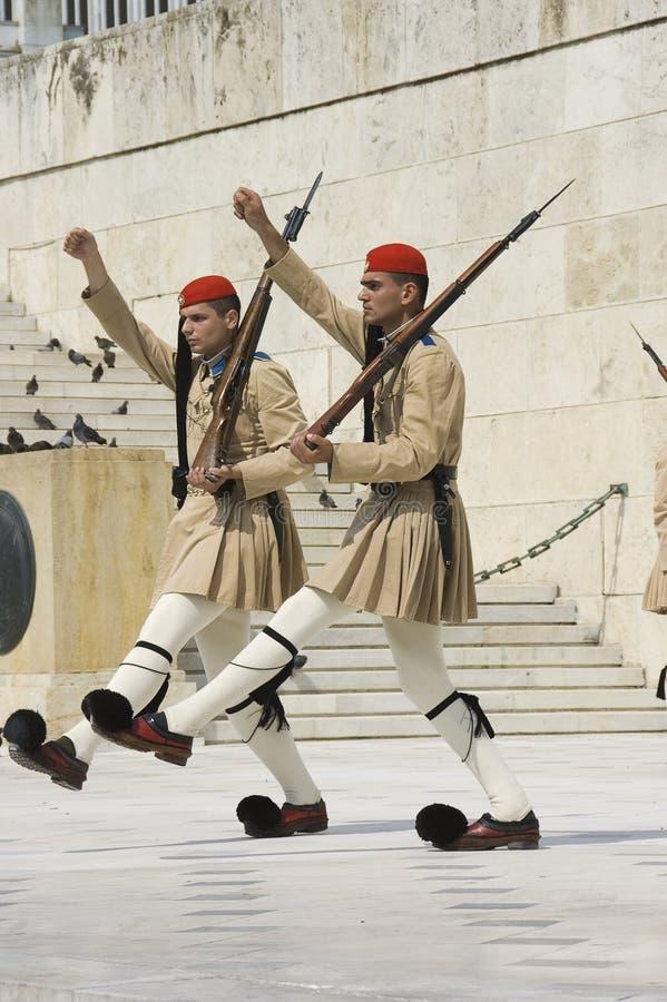 Greek honor guard ceremonial stock photo