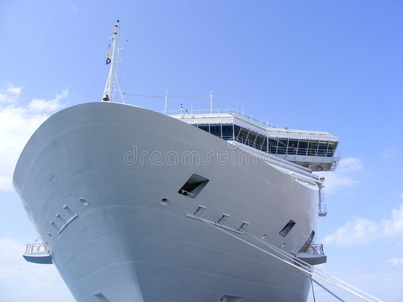 Greek Island Cruse Ship stock photo