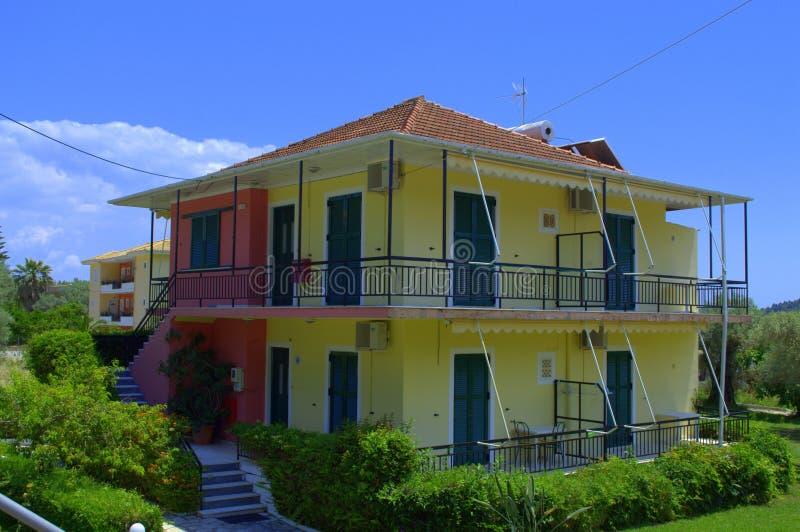 Greek island houses royalty free stock image