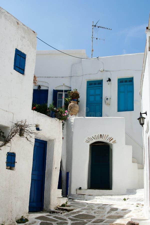 Download Greek island scene stock image. Image of blue, historic - 4421291