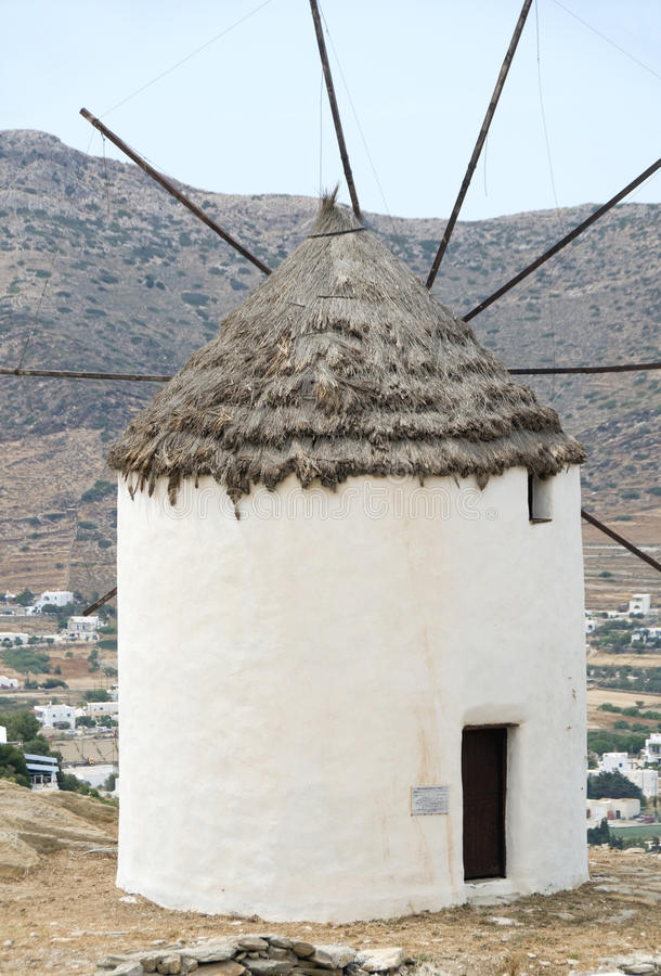 Download Greek Island Windmill Ios Cyclades Stock Photo - Image of roof, landscape: 16218418