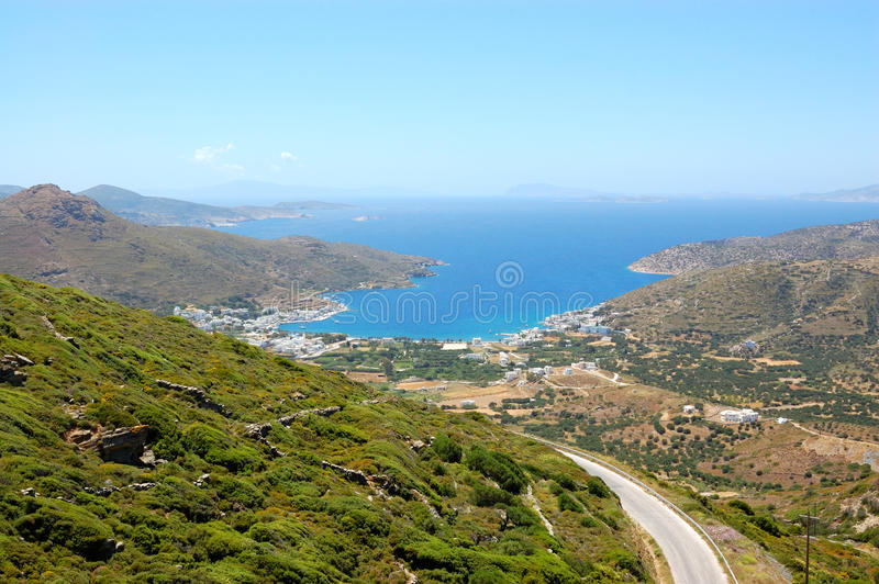 Greek islands, amorgos royalty free stock photo