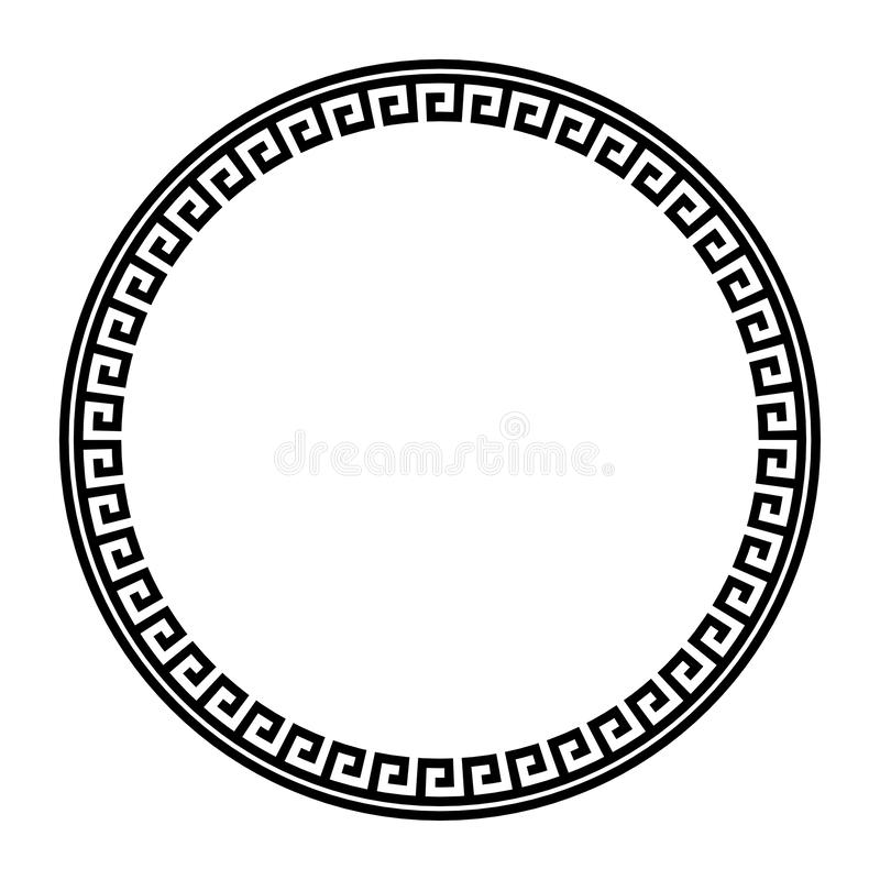 EPS Vector - Vector set of six round greek key borders of various sizes.  Stock Clipart Illustration gg89515964 - GoGraph