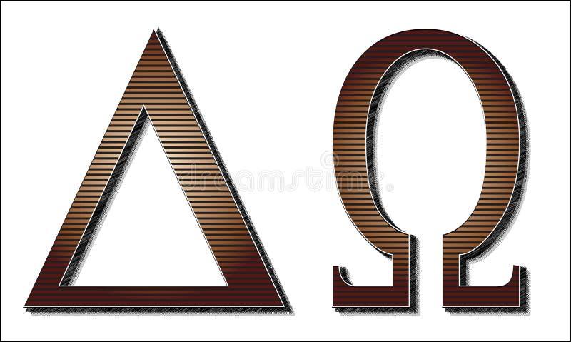 Alpha Omega Letters. The Greek letters for Alpha Omega vector illustration