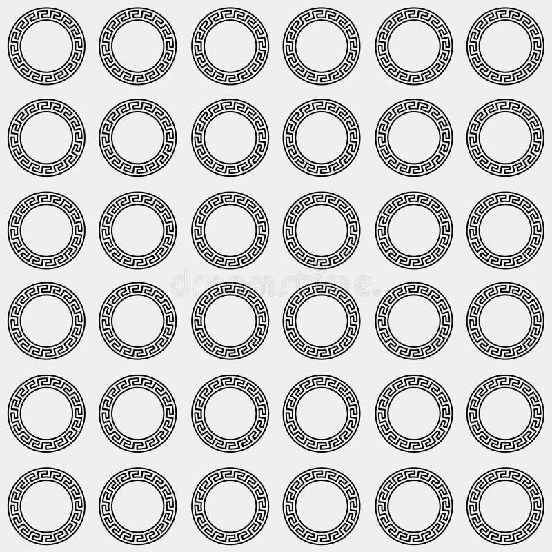 Greek Minimal Monochrome Pattern Background Or Ornament Ancient