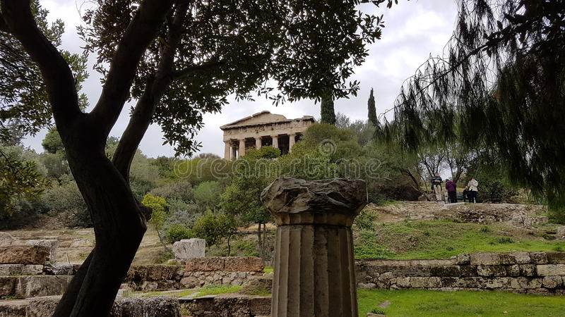 Greek monument old stock photography