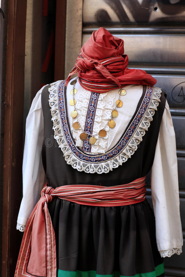 Greek National Costume Stock Photo