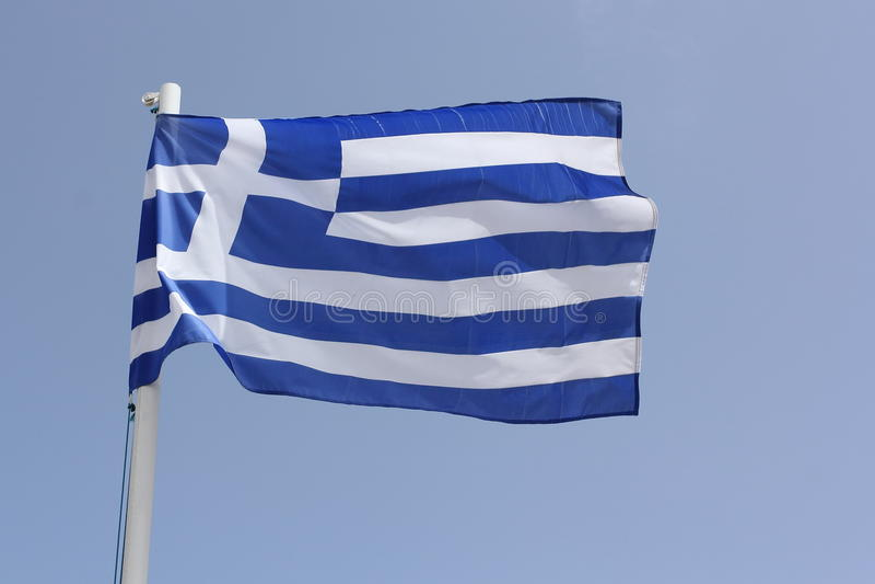 Greek National Flag Stock Image