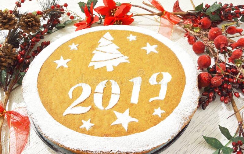 Greek new year's cake vasilopita stock photo