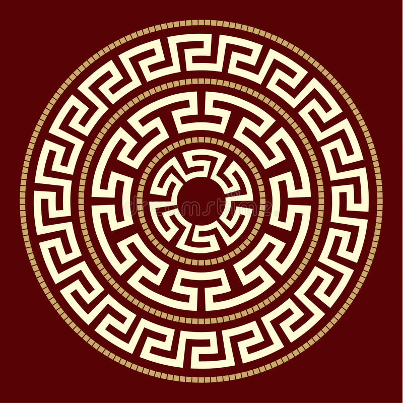 Greek ornaments ROUND royalty free illustration