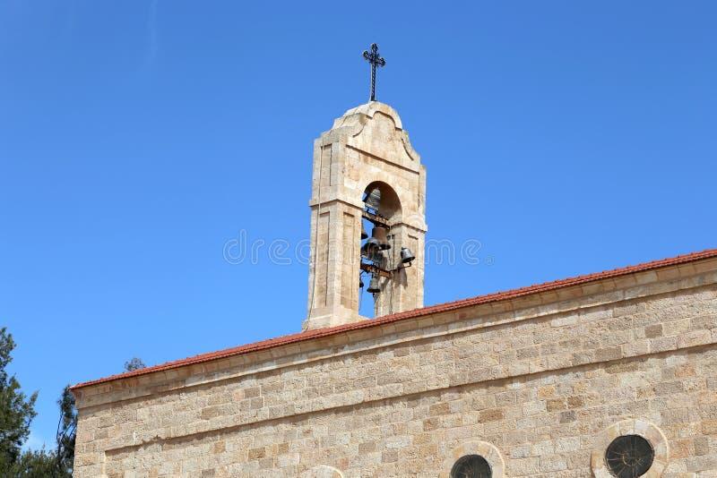 Greek Orthodox Basilica of Saint George in town Madaba, Jordan royalty free stock photography