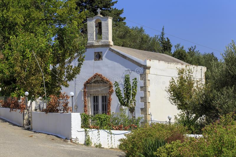 Greek Orthodox chapel in Nippos royalty free stock photos