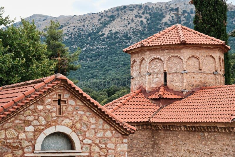 Greek Orthodox Church, Agia Lavra Monastery, Peloponnese, Greece. An historic Greek Orthodox church, at the Agia Lavra monastery site, Chelmos Mountain royalty free stock photo
