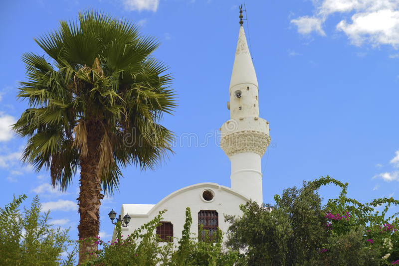 Greek Orthodox church converted into a mosque royalty free stock photo