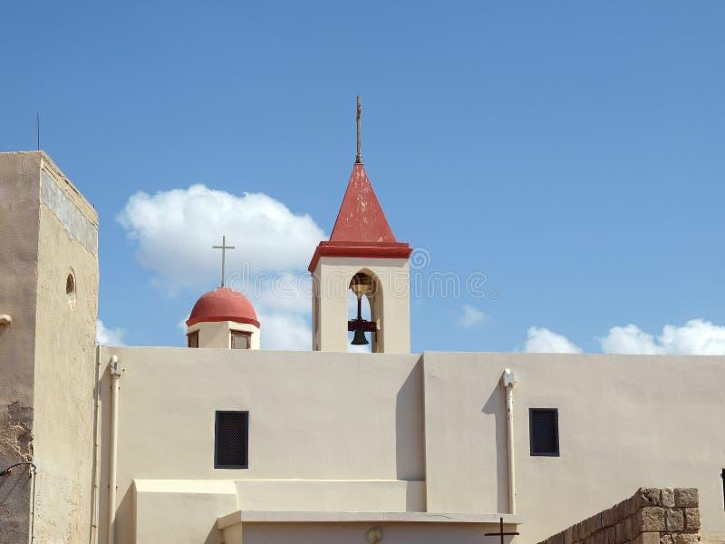 Greek Orthodox Church Israel. Greek Orthodox Church Akko Acre Israel stock photo