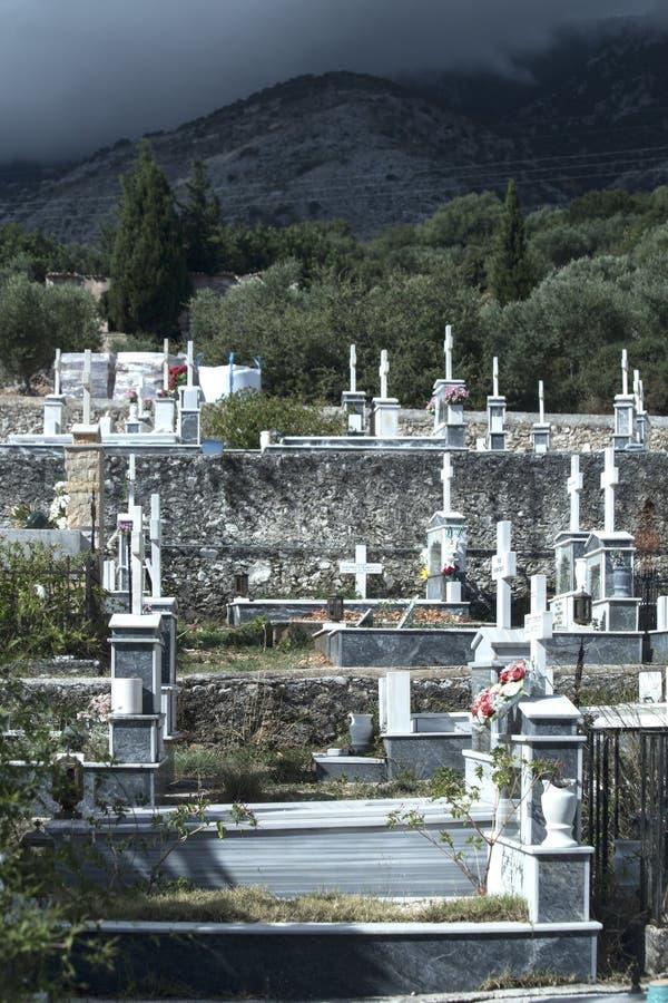 Greek Orthodox graveyard royalty free stock photos