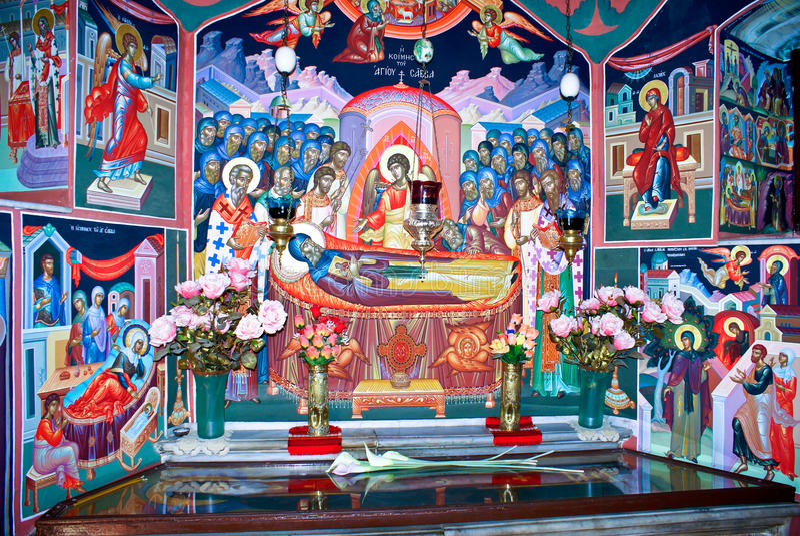 Greek Orthodox Monastery of Mar Saba (St. Sabas) i royalty free stock photography
