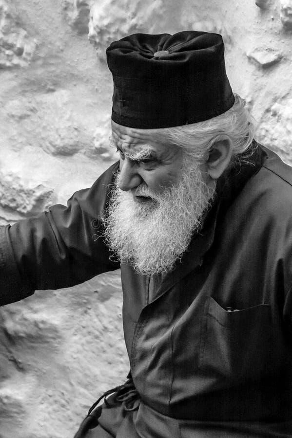 Greek orthodox priest portrait stock photos