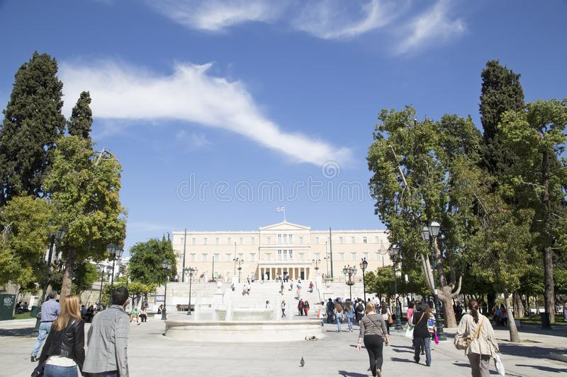 Greek Parliament Area , May 17. 2014. Athens, Greece stock photography
