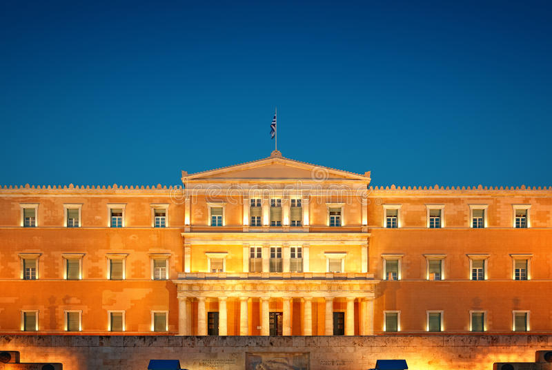 Greek Parliament, Athens royalty free stock image