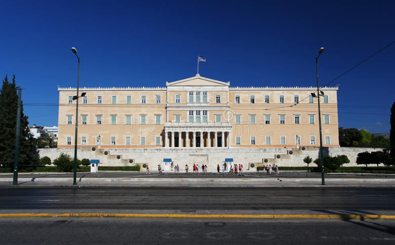 Greek Parliament in Athens royalty free stock photos