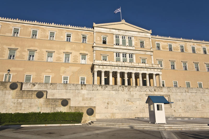 Download The Greek Parliament In Athens City Stock Image - Image: 14305431