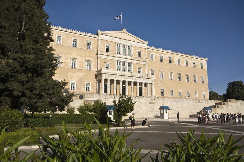 The Greek parliament in Athens city royalty free stock image