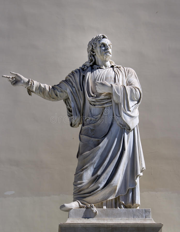 Greek philosopher statue. Athens history royalty free stock image