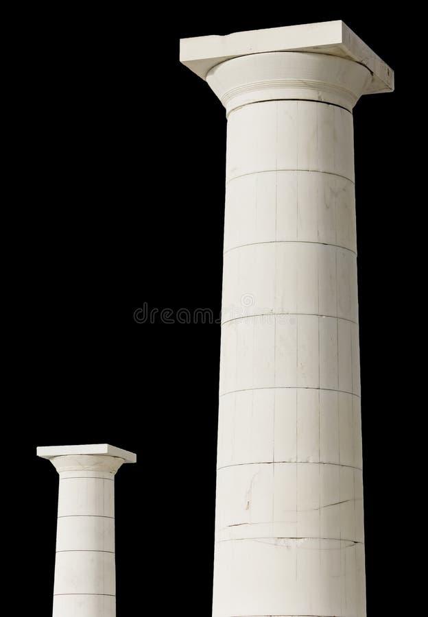 Greek pillars stock photography
