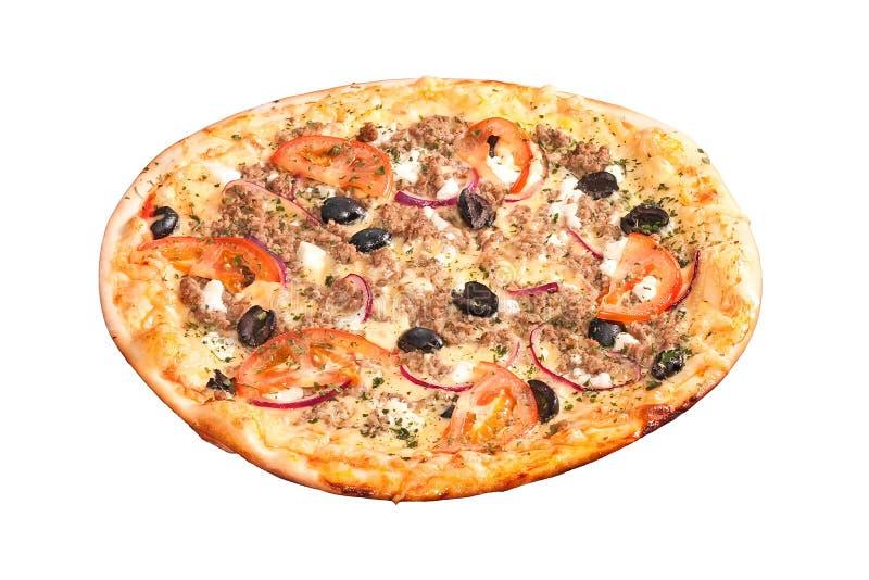 Greek pizza royalty free stock image