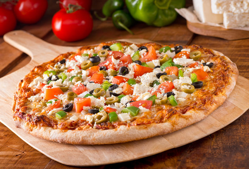 Greek Pizza stock images