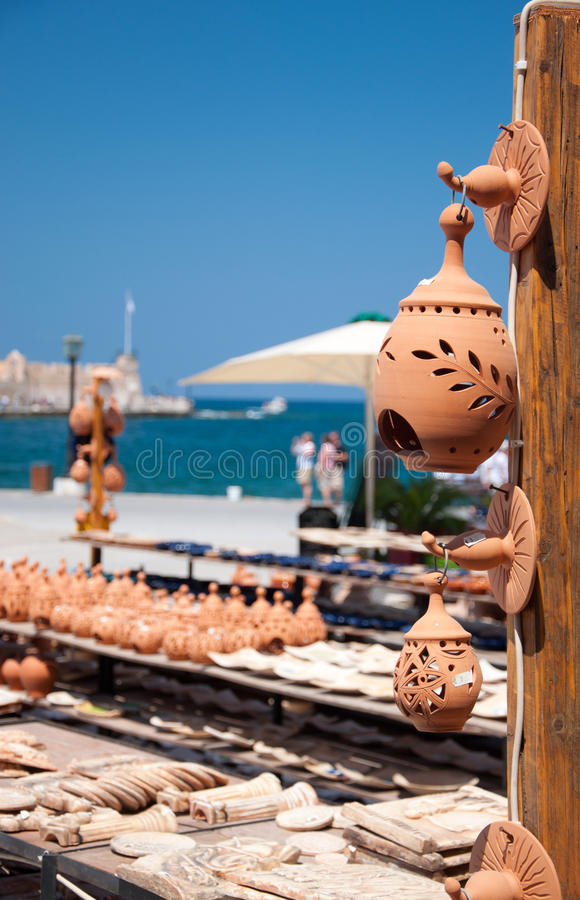 Greek pottery royalty free stock photos