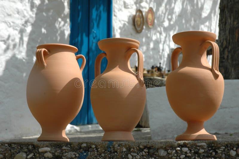 Greek pottery stock photo