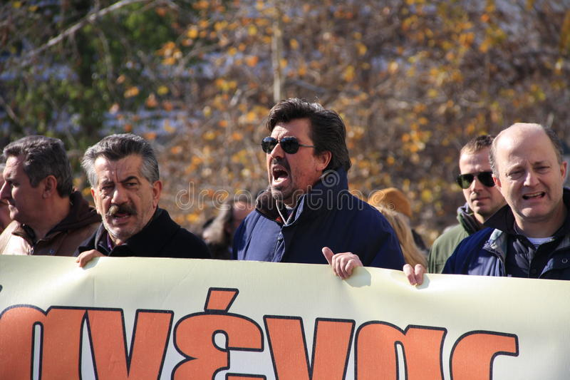 Greek private sector strike