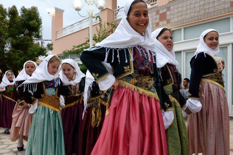 Greek Procession, Acharavi, Corfu, Greece royalty free stock images