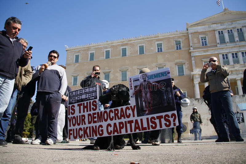 Download Greek Public And Private Sector Demonostration Editorial Photo - Image: 23450806