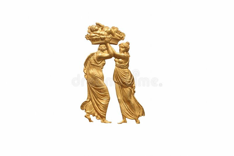 Greek relief of man and woman vector illustration