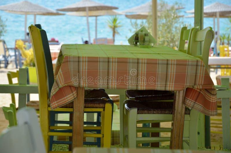 Greek restaurant stock photos
