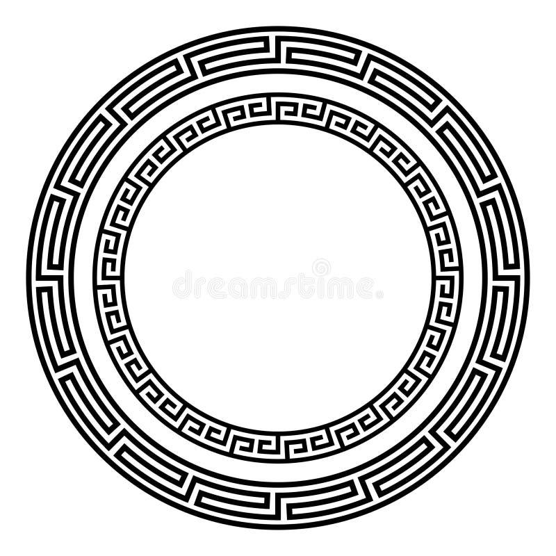 Greek round antique pattern royalty free illustration