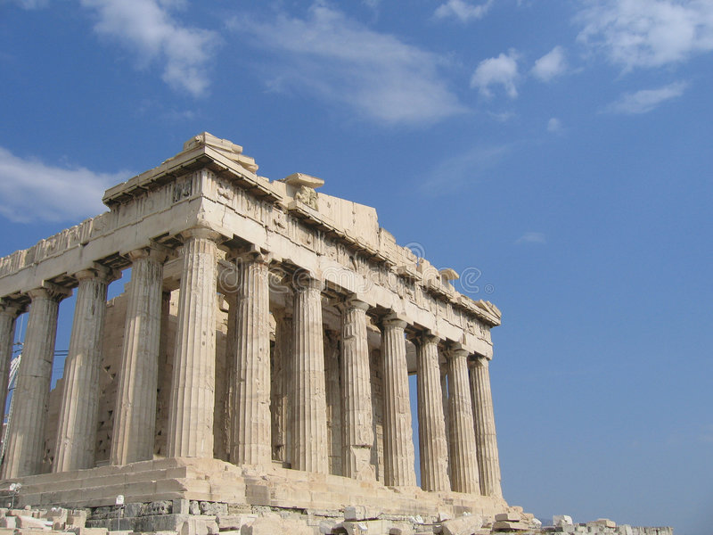 Greek Ruin in Athens stock images