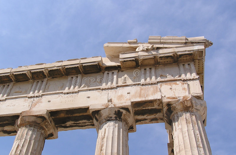 Greek ruins stock photo