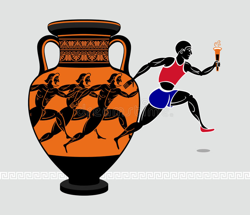 Download Greek runners stock vector. Image of isolated, design - 24478740