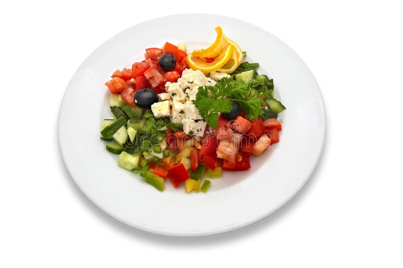 Download Greek salad stock photo. Image of food, eating, leaf, light - 1286014