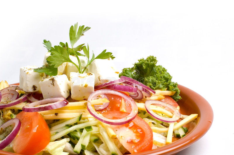 Download Greek Salad stock photo. Image of greens, lettuce, onions - 2440878