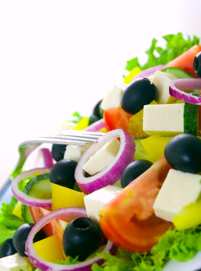 Download Greek Salad stock image. Image of onion, closeup, close - 25393871