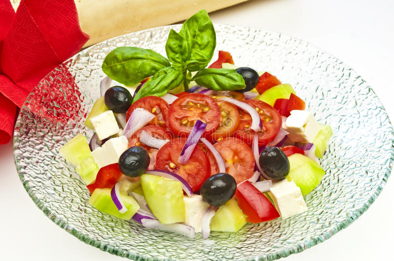 Download Greek salad stock image. Image of appetizer, herb, greek - 25593507
